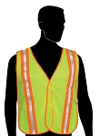 General Purpose Vest with Combined Performance Stripes - Lime Green Mesh