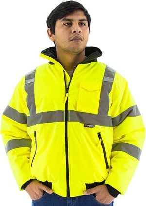 Class 3 High Visibility Waterproof Jacket with Quilted Liner