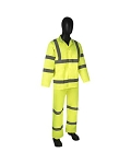 DuraWear Class 3 3-Piece Hiviz Lime Green Rainsuit
