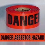 Barricade Tape – DANGER ASBESTOS HAZARD
