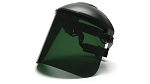Tinted Polyethylene Face Shield Only-Dark Green-Headgear Sold Separately