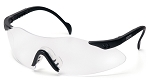 Intrepid Black Frame Clear Lens Safety Glasses - Clearance