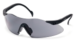 Intrepid Black Frame Gray Lens Safety Glasses - Clearance
