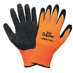 Ice Gripster - High-Visibility Water Repellent Low Temperature Two Layer Etched Rubber Palm Gloves