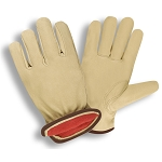 Cordova Premium Grain Pigskin Drivers Glove W/ Red Fleece Lining (Pair)