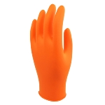 7 Mil Panther Guard Disposable Hi Viz Orange Tractor Tread 9.5 in Nitrile (Powder Free)