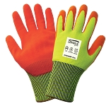 Samurai Glove - High-Visibility Cut Level A4 and Puncture Resistant ANSI 4 Nitrile Dipped Gloves