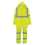 FrogWear HV - 3-Piece High-Visibility Rain Suit