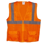 COR-BRITE™ Surveyors Class 2 Safety Vest, Type R - Orange Mesh