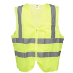 Surveyors Class 2 Safety Vest, Type R - Lime Mesh - 1 Pocket