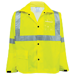 FrogWear HV - High-Visibility Yellow/Green Rain Jacket