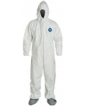 Tyvek coverall attached hood & boots (box of 25)
