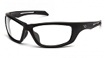 Howitzer Black Frame with Clear Anti-Fog Lens