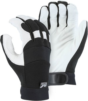 White Eagle Goatskin Mechanics Gloves