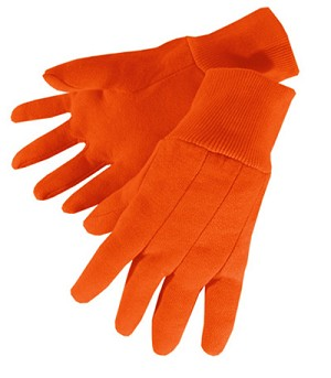 Heavy Weight Hi Viz Orange Jersey Glove