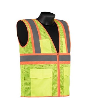 Class 2 - Safety vest (two-tone stripes)