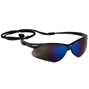 V30 Nemesis Black Frame with Blue Mirror Lens