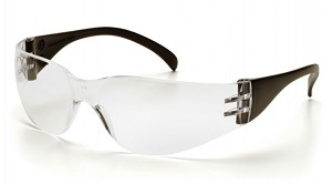 Intruder Clear Lens with Black Temples