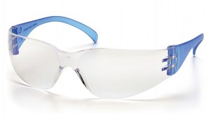 Intruder Clear Lens with Blue Temples