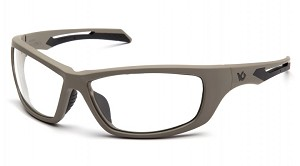 Howitzer Tan Frame with Clear Anti-Fog Lens